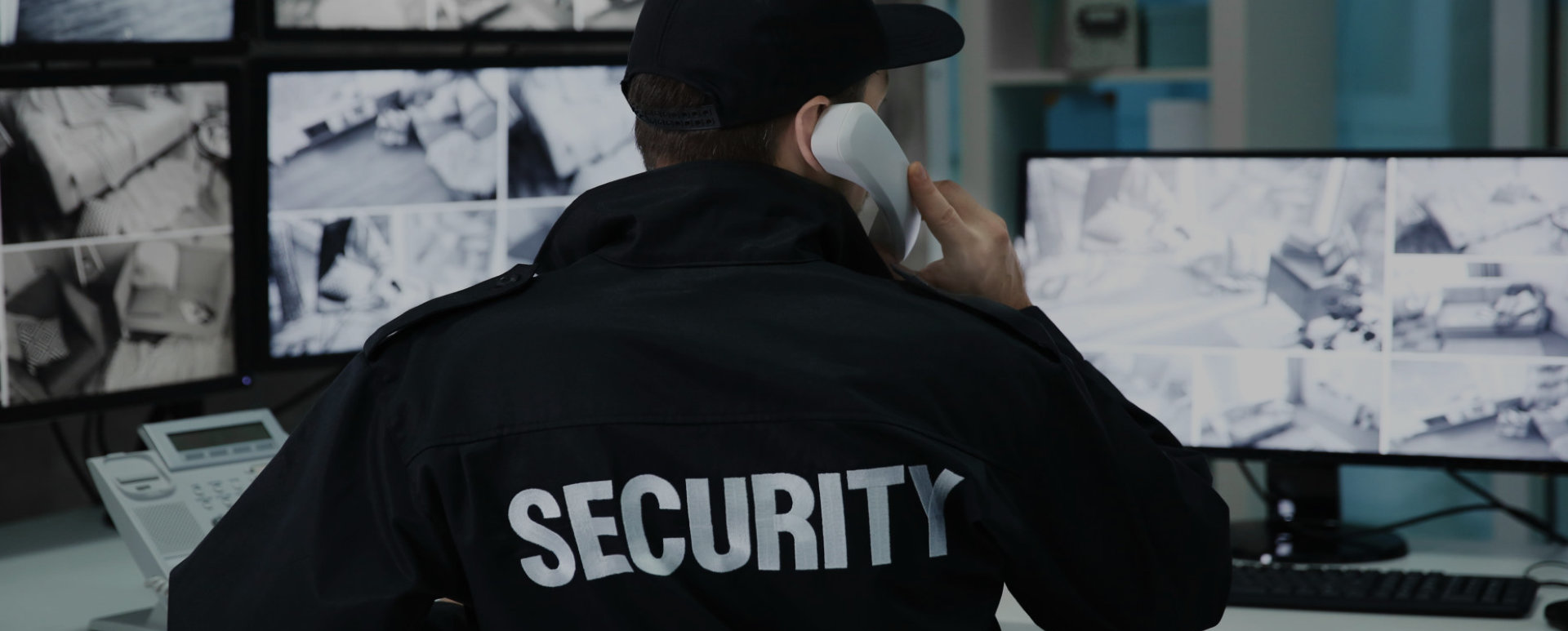 security personnel answering a call